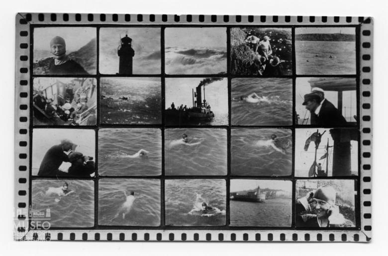 Cartolina della traversata di Enrico Tiraboschi, agosto 1923