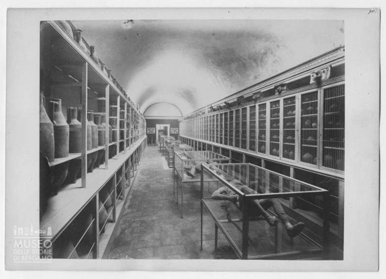 Sala con reperti archeologici di Pompei