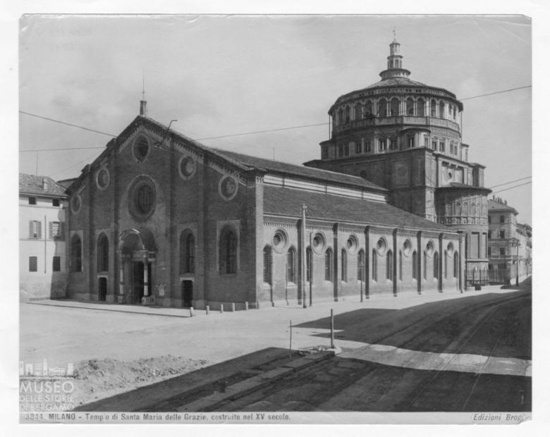 Veduta della Basilica di Santa Maria delle Grazie a Milano